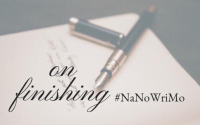 On Finishing #NaNoWriMo